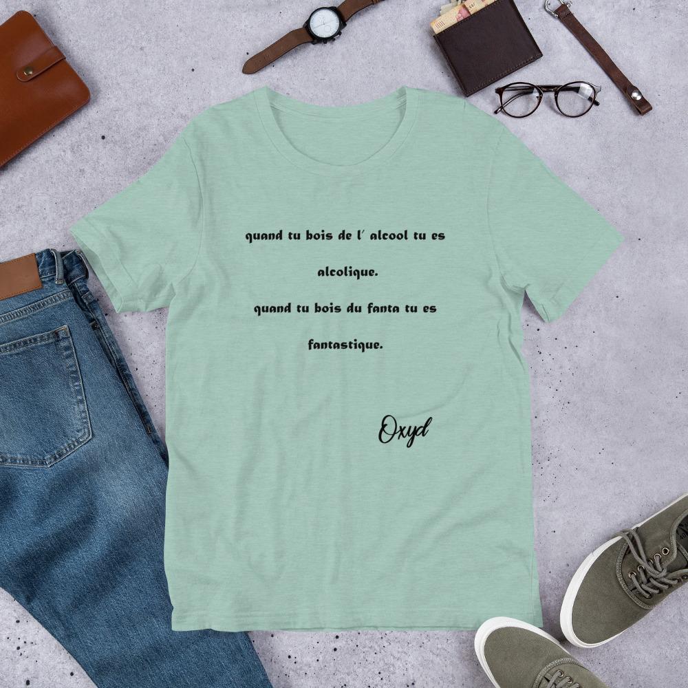 OXYD® Alcool vs Fanta Bella + Canvas 3001 Unisex Short Sleeve Jersey T-Shirt