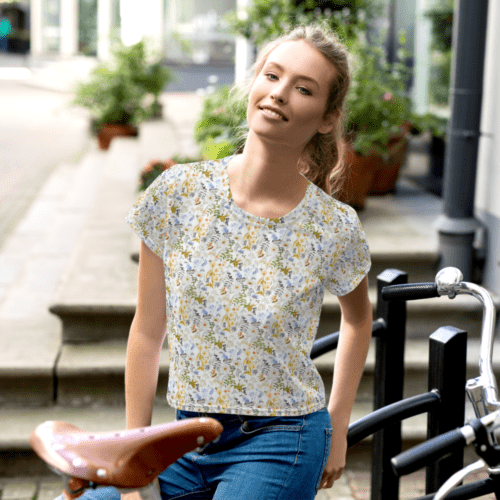 Oxyd Liby Yellow  Crop Tee