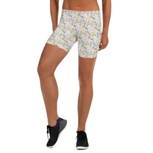 Oxyd Liby Yellow Tight Shorts