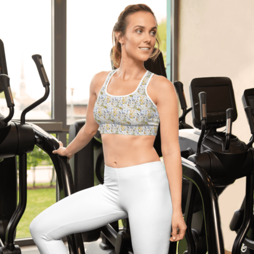 Oxyd Liby Yellow Padded Sports Bra