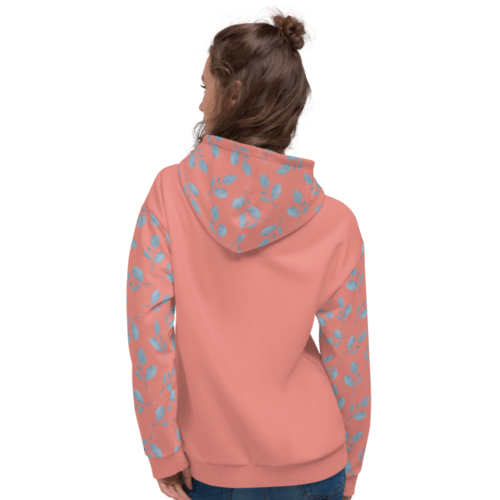 Burnt Coral Blue Branch NY 2021 Unisex Hoodie