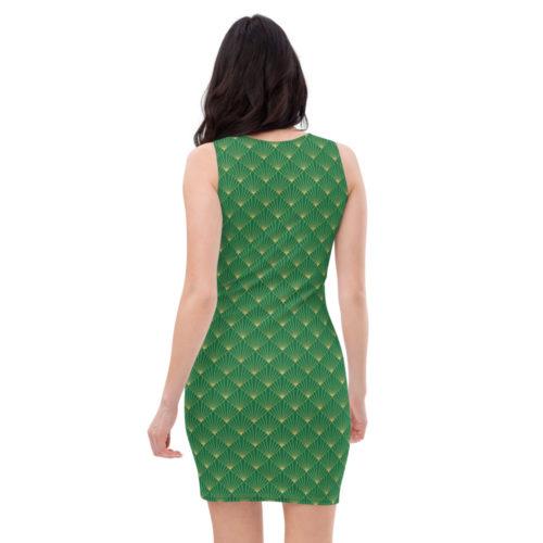 Art Deco  Dress Jewel Green 04