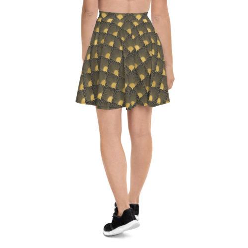 Art Deco Skater Skirt Eclipse Grey 06