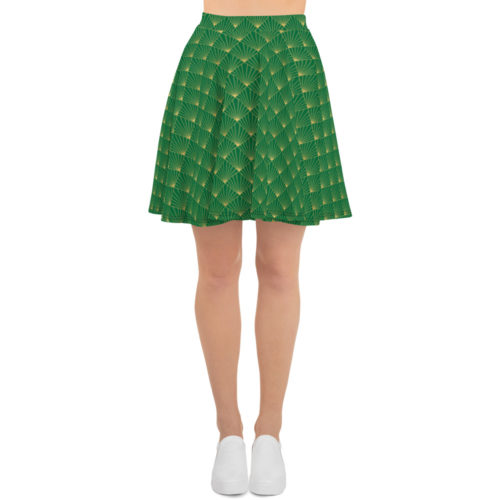 Art Deco Skater Skirt Jewel Green 04