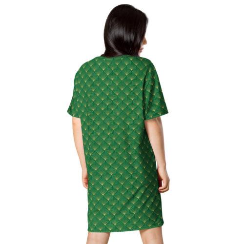Art Deco T-shirt Dress Jewel Green 04